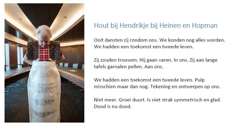 Wilde Oog - Hout bij Hendrikje bij Heinen en Hopman